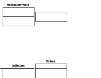 Interactive Vocabulary Tri-Fold