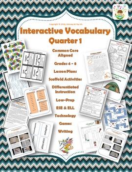 Interactive Vocabulary Unit Quarter 1