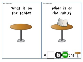 Interactive Vocabulary book: What is on the table?