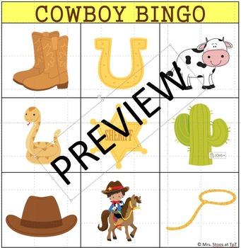 Interactive Vocabulary book and Activities Western Theme
