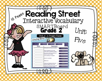 Interactive Vocabulary for SMARTBoards - Reading Street  - Unit Five Grade 2
