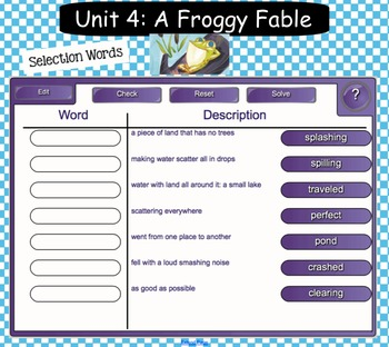 Interactive Vocabulary for SMARTBoards - Reading Street  - Unit Four Grade 2