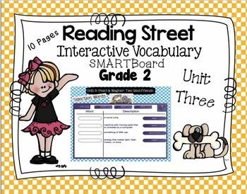 Interactive Vocabulary for SMARTBoards - Reading Street  - Unit Three Grade 2
