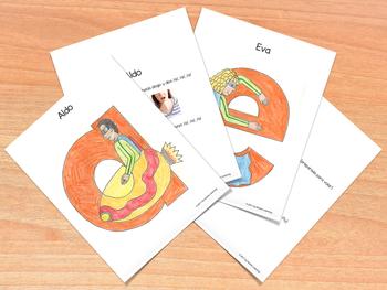 Interactive Vowel Cards - Tarjetones de vocales interactivas