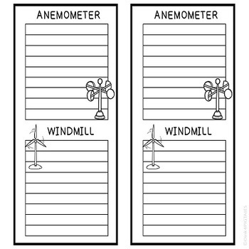 WEATHER and SEASONS Worksheets for Science Journal Flip Books