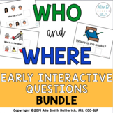 Interactive WH Book BUNDLE for WHO and WHERE Questions
