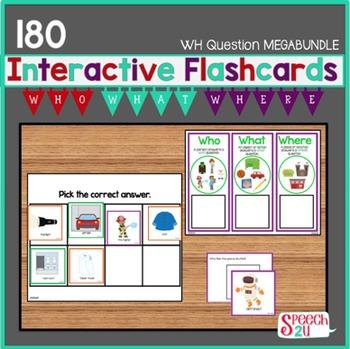Interactive WH question Megabundle:  Autism, ABA, AVB