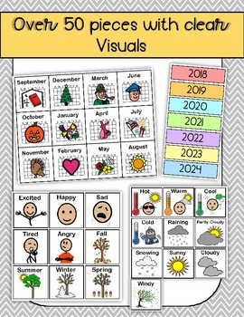 Interactive Wall Calendar - Visual Supports for Students with Autism
