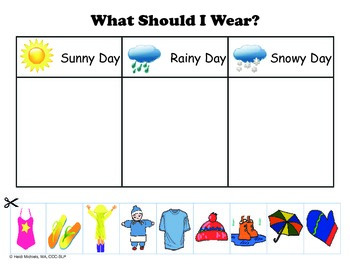 Interactive WEATHER Books and Thematic Concept Activities