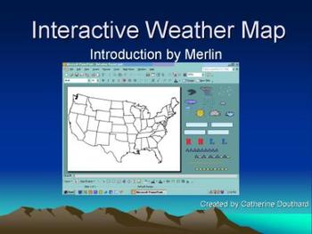 interactive weather map with microsoft powerpoint by mrsd5107 tpt