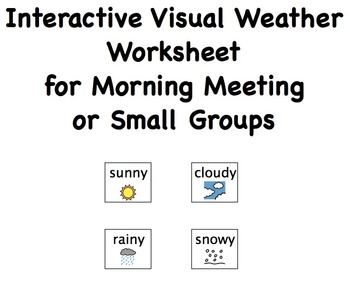 Interactive Weather Worksheet for Morning Meeting