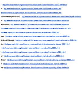 Interactive Website Activities