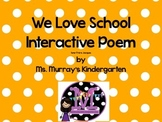 Interactive Week Long Poetry Pack. School Theme