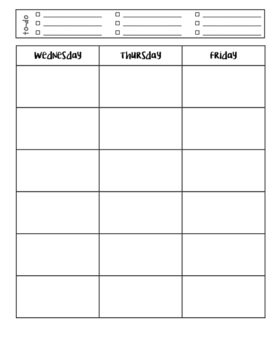 Interactive Weekly Lesson Plan