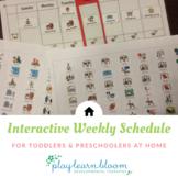 Interactive Weekly Schedule for Home - Toddlers & Preschoolers