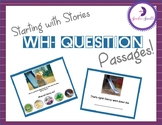 Wh- Questions - From Pictures To Stories