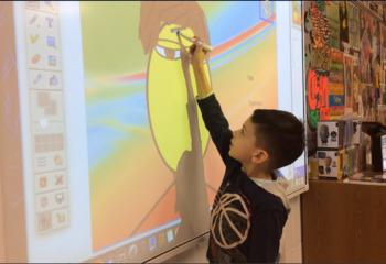 Interactive Whiteboard Art Game ~ Build a Face for Kindergarten