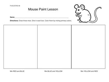 Interactive Whiteboard Art Game ~ Mouse Paint Color Mixing