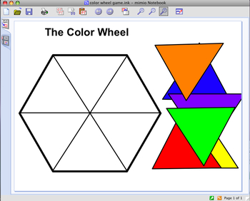 Interactive Whiteboard Art Game ~ The Color Wheel