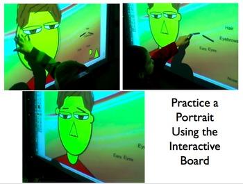 Interactive Whiteboard Build a Face Game ~ Kindergarten