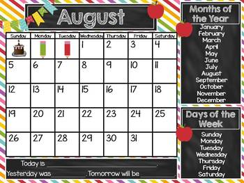 Interactive Whiteboard Calendar For The Smart Board By Kristi Swearengin