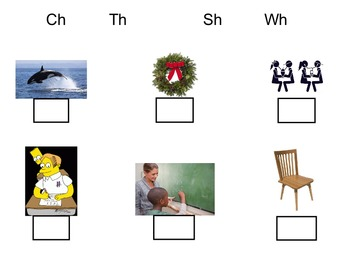 Interactive Whiteboard: Consonant Digraphs (Ch, Sh, Th, Wh)