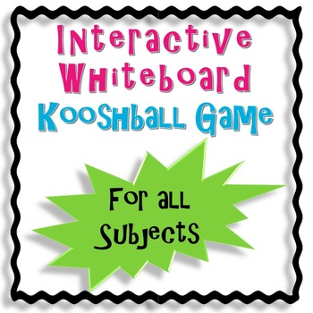 Interactive Whiteboard Kooshball Game