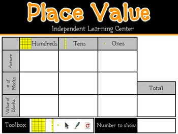 Interactive Whiteboard Place Value Learning Center (Promethean Flipchart)
