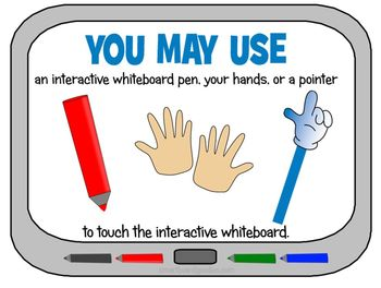 Interactive Whiteboard Rules Posters