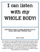 Interactive Whole Body Listening Book