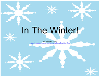 Interactive Winter Book (2): PRE-K / AUTISM