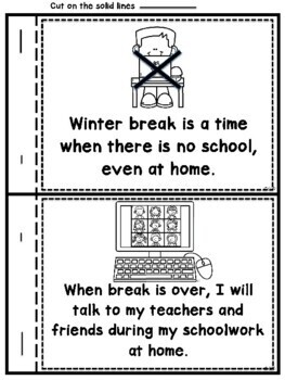 Interactive Winter Break Social Narrative for Students with Autism (Special Ed)