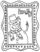Interactive Winter Coloring Sheets + Writing prompts +Create Your Own Lesson