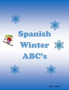 Interactive Winter Spanish Alphabet Vocabulary/Puzzle