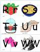 Interactive Winter Spanish Alphabet Vocabulary/Puzzle