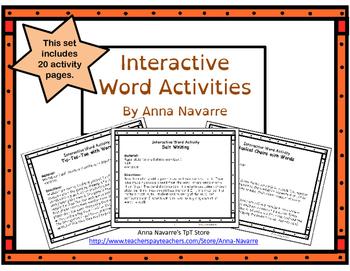 Interactive Word Activities