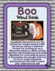 Halloween Activity | BOO Word Book | Halloween Flip Book