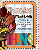 Interactive Word Book- THANKS - For All Subjects