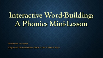 Interactive Word-Building: A Phonics Mini-Lesson 5.5