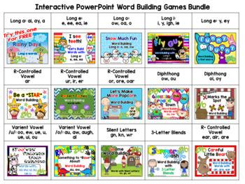 Interactive Word Building PowerPoints Bundle