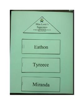 Interactive Word Family Book (Editable)
