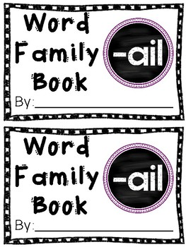 Interactive Word Family Book: -ail