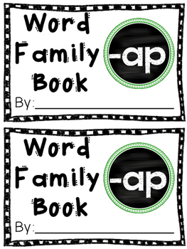 Interactive Word Family Book: -ap