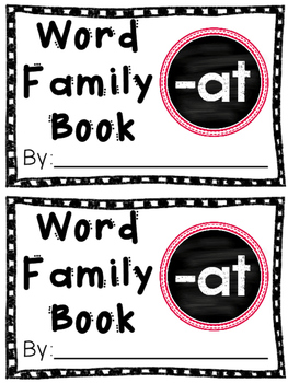 Interactive Word Family Book: -at