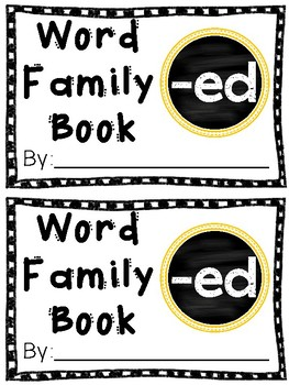 Interactive Word Family Book: -ed