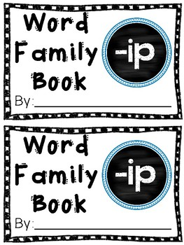 Interactive Word Family Book: -ip