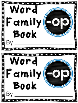 Interactive Word Family Book: -op