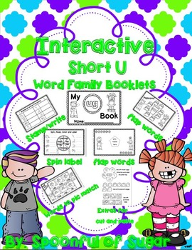 Interactive Word Family Booklets (Short U Edition)