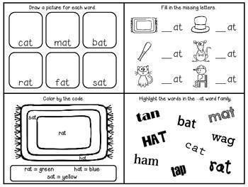 Interactive Word Family Mini Books Short A