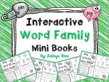 Interactive Word Family Mini Books Short I